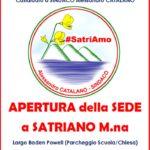 Sabato 18 marzo apertura sede della Lista Civica #SatriAmo