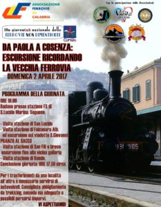 Da Paola a Cosenza: domenica 2 aprile escursione sullo storico tracciato ferroviario