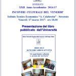 Soverato – Venerdì 17 Marzo la presentazione del libro pubblicato dall'Università Popolare della Terza Età