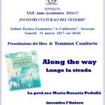 """Soverato – Venerdì 31 Marzo la presentazione del libro """"Along the way Lungo la strada"""""""