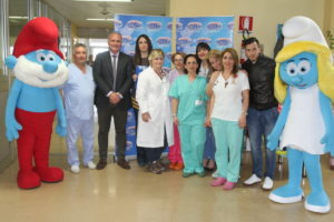 I Puffi regalano sorrisi ai piccoli pazienti dell'ospedale di Lamezia Terme