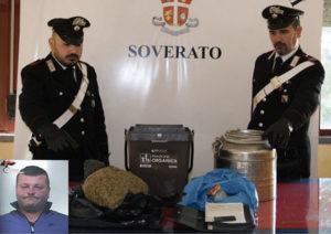 San Sostene – Nascondeva un chilo e mezzo di marijuana nell'uliveto, arrestato