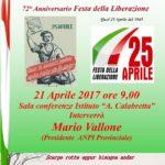 Iniziative dell'ANPI per le celebrazioni del 25 Aprile, Festa della Liberazione