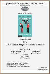 """""""Generazione Tvb. Gli adolescenti digitali, l'amore e il sesso"""""""