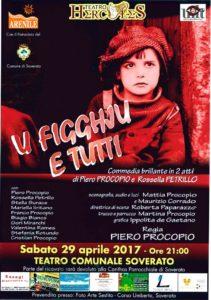 """Teatro Soverato – Sabato 29 Aprile """"U figghju e tutti"""""""