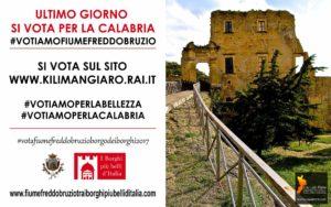 Fiumefreddo Bruzio. Borgo dei Borghi, oggi l'ultimo giorno per votare e far vincere la  Calabria