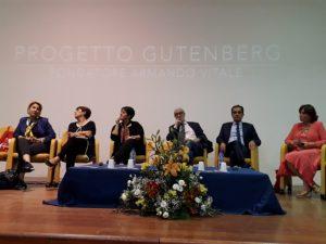 Il presidente della Provincia di Catanzaro, Enzo Bruno, all'inaugurazione della 15esima edizione del Progetto Gutenberg