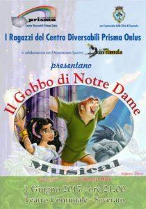 """Soverato – Giovedì 1 giugno il musical """"Il Gobbo di Notre Dame"""""""