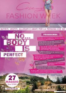 No…Body is perfect a Cosenza Fashion Week