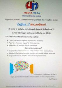 Liceo Scientifico Soverato – Corso di formazione per le classi quinte