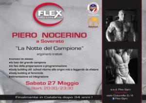 """A Soverato """"La notte del campione"""" con il bodybuilder Piero Nocerino"""