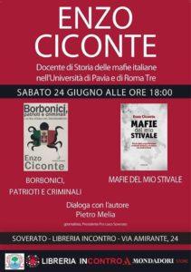 Soverato – Sabato 24 Giugno incontro con Enzo Ciconte