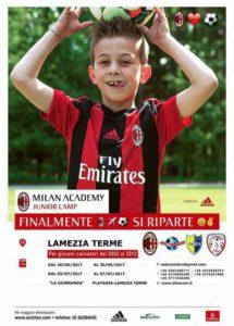 Lamezia Terme – Inizia oggi il Milan Academy Junior Camp