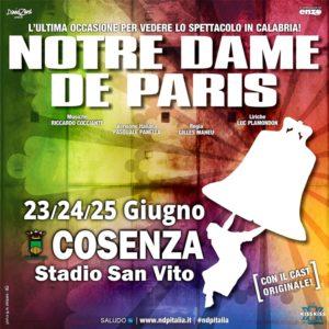 Tutto pronto per l'arrivo dell'originale e imponente Notre Dame De Paris a Cosenza