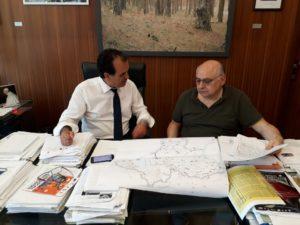 Prevenzione antincendio lungo le strade provinciali, riunione tra il presidente Bruno e il commissario Mariggiò