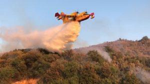 Due vasti incendi nel catanzarese, impegnati elicotteri e Canadair