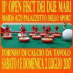 Calcio da tavolo, II Open dei due Mari a Maida