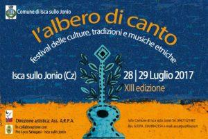 """Isca sullo Jonio – Venerdì 28 luglio e sabato 29 luglio torna """"L'Albero di Canto"""""""