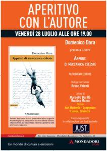 Soverato – Venerdì 28 luglio Aperitivo con l'autore. Incontro con Domenico Dara