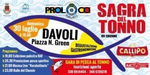 """Davoli – Domenica 30 luglio la """"Sagra del Tonno"""""""