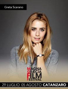 L'affascinante Greta Scarano al Magna Graecia Film Festival