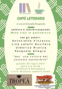 Lamezia Terme – Sesto appuntamento con il caffè letterario Dolceamaro