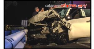 Incidente sulla Ss 106 tra Montepaone e Pietragrande, cinque feriti