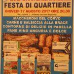 Soverato – Giovedì 17 agosto la Festa del Quartiere Corvo
