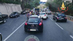 Incidente sulla Ss 106 imbocco galleria di Copanello