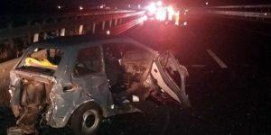 Calabria – Auto contro guardrail sull'A2, quattro feriti di cui uno grave