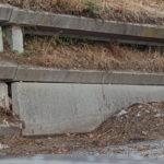 Detriti sulla bretella di accesso SS 106 Soverato Nord