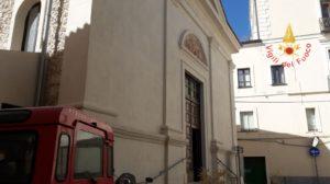 I Vigili del Fuoco ripristinano le Campane della Chiesa di S. Maria de Figulis detta di Montecorvino