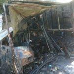 Incendio di una baracca e sterpaglie a Cenadi