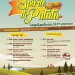 """Sabato 16 e domenica 17 Settembre sul lungolago di Lorica """"Spirito di Patata 2017"""""""