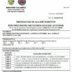Allerta Meteo della Protezione Civile Calabria per l'arrivo di venti forti o di burrasca