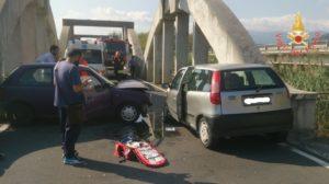 Montepaone – Incidente stradale sulla Vecchia S.S. 106 all'altezza del ponte Grizzo