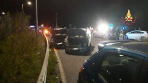 Incidente stradale a Catanzaro, 4 le auto coinvolte