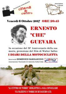 """Stasera Cinema al Centro a Torre di Ruggiero con """"I diari della motocicletta"""""""