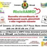 Olivadi – Domenica 22 Ottobre raccolta di indumenti usati, giocattoli e olio vegetale esausto
