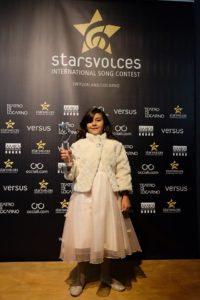 Letizia, 9 anni, seconda classificataal concorso canoro Star's Voice 2017