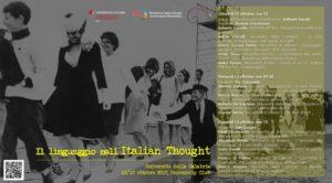 Unical, domani comincia la due giorni su 'Il Iinguaggio nell'Italian Thought