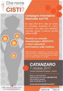 """A Catanzaro torna la campagna nazionale sull'Idrosadenite suppurativa """"Che nome dai alle tue cisti?"""""""