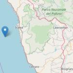 Scossa di terremoto al largo della costa tirrenica calabrese