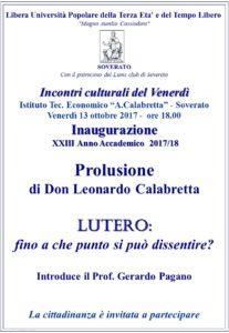 Soverato – Venerdì 13 Ottobre Inaugurazione del XXIII Anno Accademico Università della Terza Età