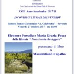 """Soverato – Venerdì 27 Ottobre presentazione del libro """"Fatti foste a viver di turismo"""""""