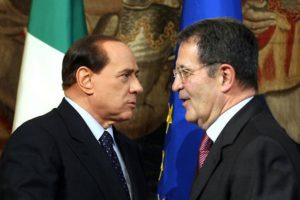 Berlusconi Prodi: scontro tra titani