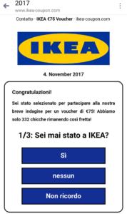 Truffe online. Falsi voucher Ikea utilizzati dagli hacker per fregarci