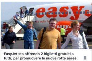 Falsi omaggi di biglietti aerei. La truffa online per finti regali di voli Easyjet