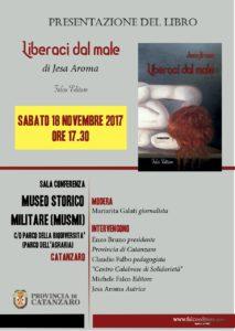 """Catanzaro – Sabato 18 novembre la presentazione del libro """"Liberaci dal male"""""""