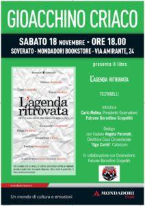 """Soverato – Presentazione del libro """"L`agenda ritrovata"""""""